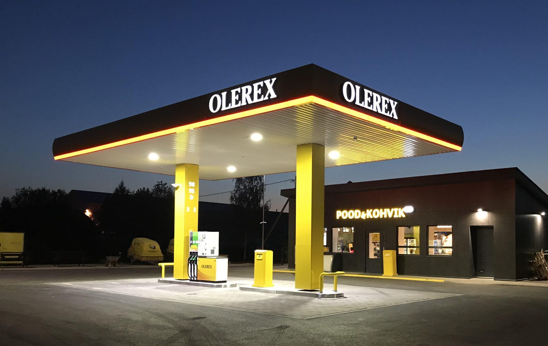 OLEREX teenindusjaam-tankla